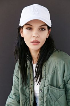X UO Tonal Strap-Back LA Hat - White at Urban Outfitters