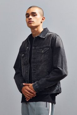 Core Denim Trucker Jacket - Black S at Urban Outfitters