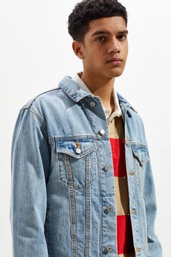 Core Denim Trucker Jacket - Blue L at Urban Outfitters