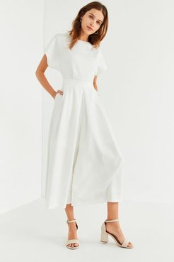 Structured Wide-Leg Jumpsuit - White S at Urban Outfitters