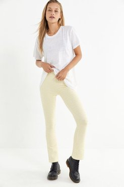 UO Casey Cropped Flare Pant - Yellow XL at Urban Outfitters