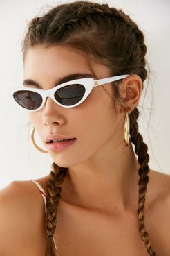 The Ultra Jungle Slim Sunglasses - White at Urban Outfitters