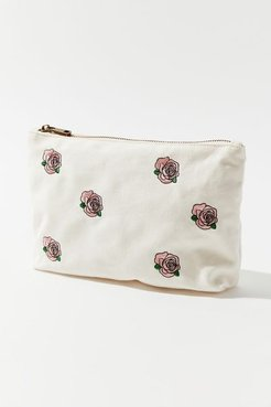 Embroidered Pattern Pouch - Pink at Urban Outfitters