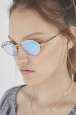 UO Exclusive The New Riddim Sunglasses - Gold at Urban Outfitters