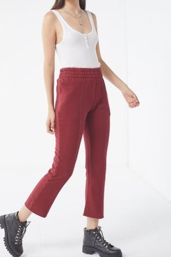 UO Harlyn Cropped Jogger Pant - Red S at Urban Outfitters
