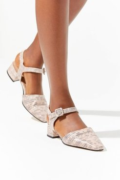 Atila Heeled Sandal - Beige 41 at Urban Outfitters