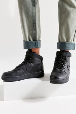 Nike Air Force 1 High Top Women's Sneaker - Black 7 at Urban Outfitters