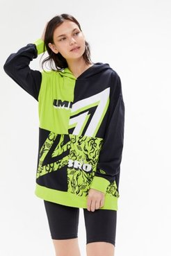 UO Exclusive Spliced Oversized Hoodie Sweatshirt - Assorted Xs at Urban Outfitters