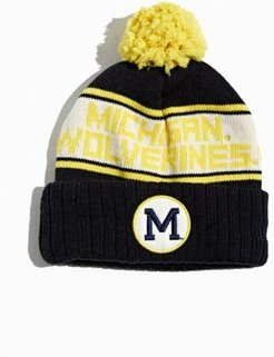 University Of Michigan Pompom Beanie - Blue at Urban Outfitters