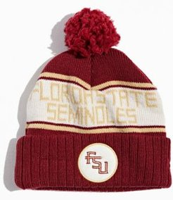 Florida State University Pompom Beanie - Red at Urban Outfitters