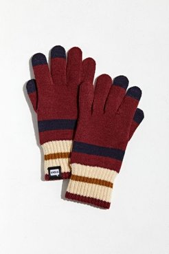 Tilden Stripe Touch Screen Glove - Red at Urban Outfitters
