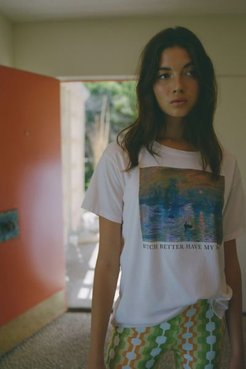 Better Have My Monet Tee - Pink S at Urban Outfitters
