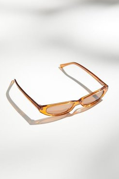 Reese Slim Sunglasses - Brown at Urban Outfitters