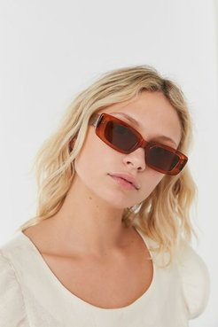 Preston Transparent Sunglasses - Brown at Urban Outfitters