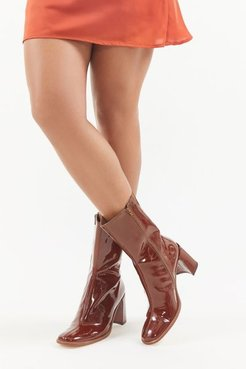 Asta Patent Leather Boot - Brown 8 at Urban Outfitters
