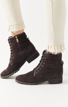 Prima Lace-Up Boot - Brown 7.5 at Urban Outfitters