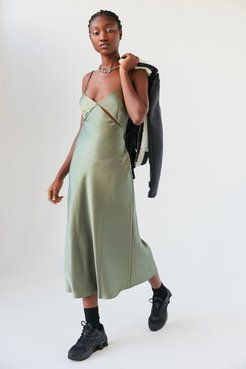 Mila Cutout Midi Dress - Green 8 at Urban Outfitters