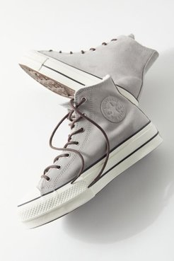 Converse Chuck Taylor All Star Sherpa High Top Women's Sneaker - Silver 8.5 at Urban Outfitters