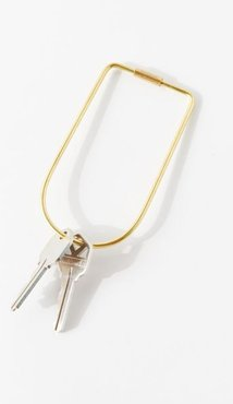 Contour Brass Bend Keyring - Gold at Urban Outfitters
