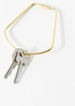 Contour Brass Bell Keyring - Gold at Urban Outfitters