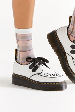 Plaid Sheer Crew Sock - Beige at Urban Outfitters