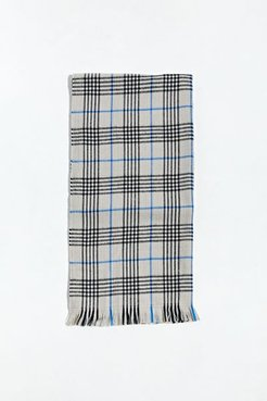 UO Plaid Scarf - Grey at Urban Outfitters
