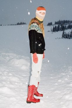 UO Lorette Cowgirl Boot - Red 7 at Urban Outfitters