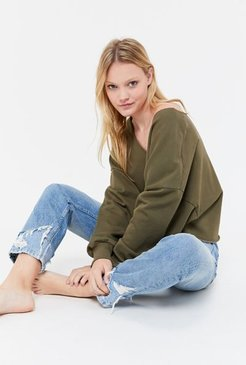 Beatrice Batwing Sweatshirt - Green M at Urban Outfitters