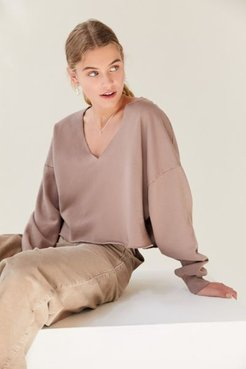 Beatrice Batwing Sweatshirt - Purple L at Urban Outfitters