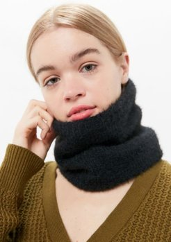 Eyelash Neck Gaiter Scarf - Black at Urban Outfitters