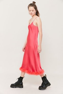 Elise Satin Slip Dress - Pink M/l at Urban Outfitters