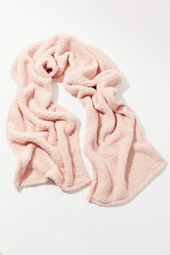 UO Plush Teddy Oversized Scarf - Pink at Urban Outfitters
