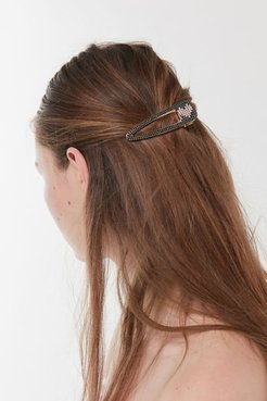 Sweetheart Rhinestone Hair Clip - Black at Urban Outfitters