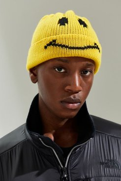 X Smiley Beanie - Yellow at Urban Outfitters