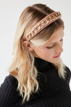 X Justine Marjan Chain Headband - Pink at Urban Outfitters