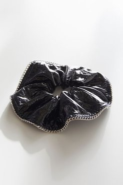X Justine Marjan Patent Chain Scrunchie - Black at Urban Outfitters