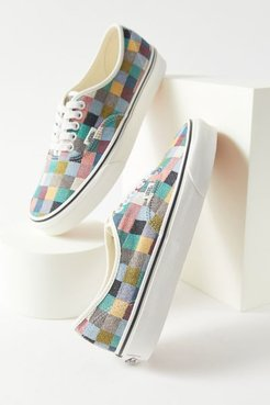 Vans UO Exclusive Authentic Woven Checkerboard Women's Sneaker - Assorted 8.5 at Urban Outfitters