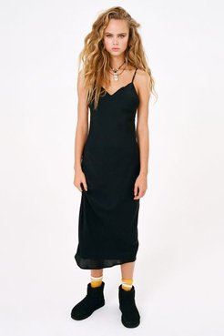 UO Romi Backless Midi Slip Dress - Black M at Urban Outfitters