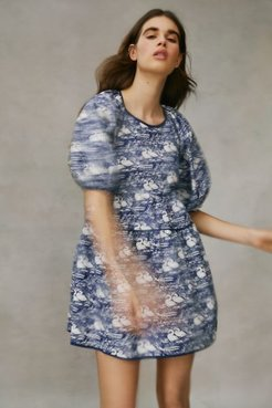 UO Exclusive Bella Tiered Babydoll Dress - Blue M at Urban Outfitters