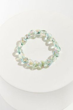 Beaded Heart Bracelet - Mint at Urban Outfitters