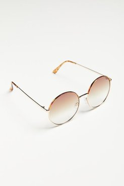 Penny Oversized Round Sunglasses - Brown at Urban Outfitters