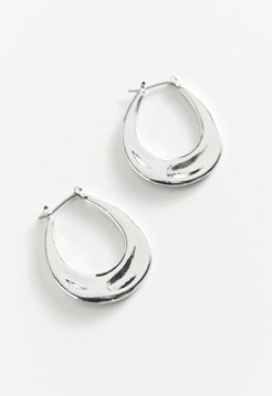 Aden Hoop Earring - Silver at Urban Outfitters