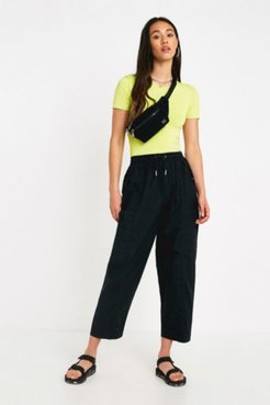 UO Black Cotton Utility Pant - Black S at Urban Outfitters
