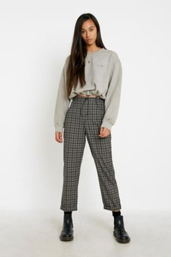 UO Check Slim Cigarette Pant - Blue Xl at Urban Outfitters