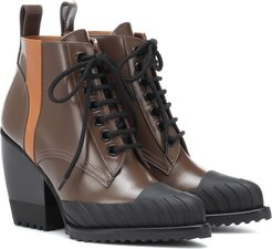 Rylee leather lace-up boots