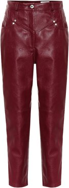 Exclusive to Mytheresa – High-rise faux leather straight pants