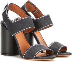 Edgy denim sandals