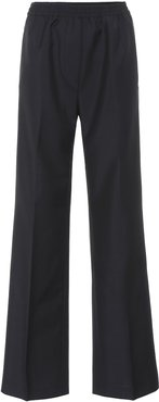 Wool and mohair wide-leg pants