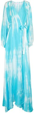 Exclusive to Mytheresa – Tie-dye silk maxi dress