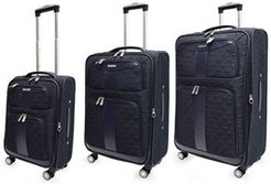 3-Piece Diamond-Quilted Soft-Sided Spinner Luggage Set
